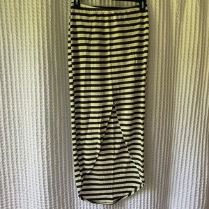 Nordstrom Lily White Striped High-Low Maci Skirt